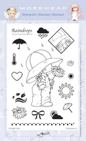 Clearstamp Morehead,  You&Me raindrops, 10x15 cm