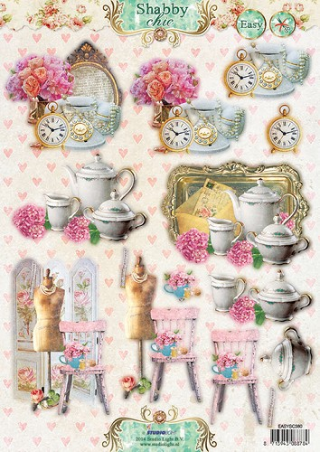 3D Stansvel A4, Shabby Chic 380