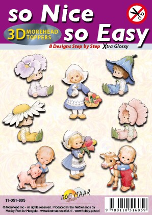 Morehead So Nice So Easy 3D Stansvel pakket, extra Glossy, 300 gr., 8 Designs