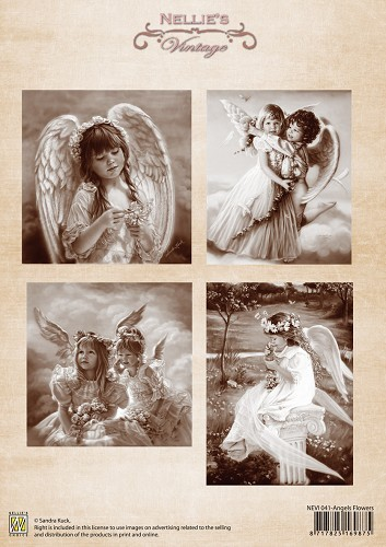 Vintage - Angels Flowers