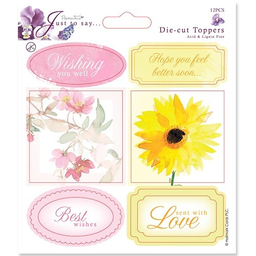 5x5 Toppers/Sentiments (2pk) Get Well/Thinking Of You
