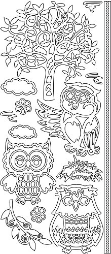 Sticker - Owls tree - Goud