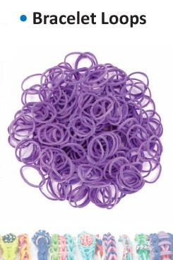 Bracelet loops purple