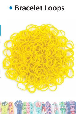 Bracelet loops yellow