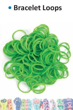Bracelet loops kelly green