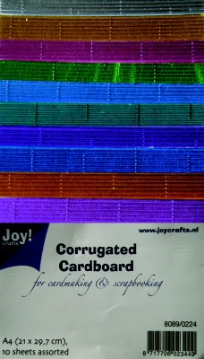 Corrugated paper metallic A4 - 10 vel - assorti