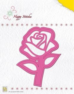Stitching Dies Happy Stitches rose