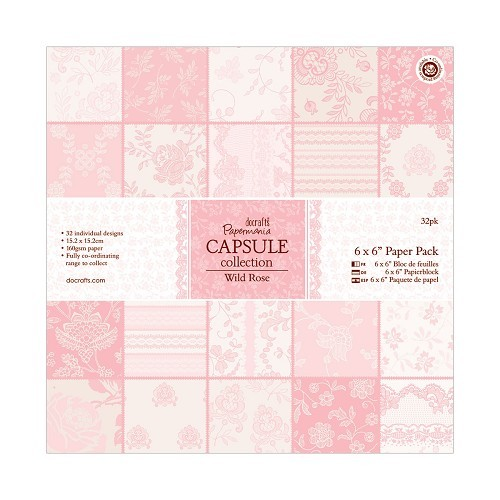 6 x 6 Paper Pack (32pk) - Capsule Collection - Wild Rose