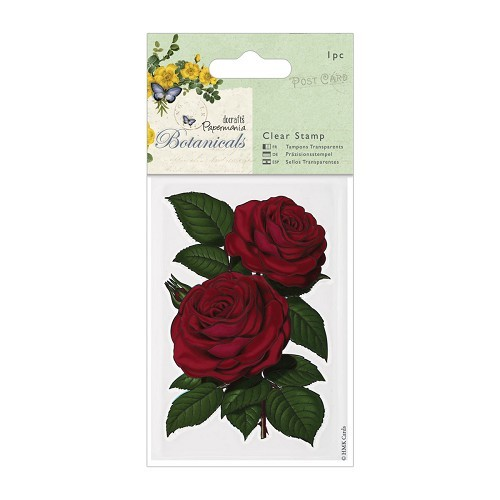 Clear Stamps - Botanicals - Red Rose