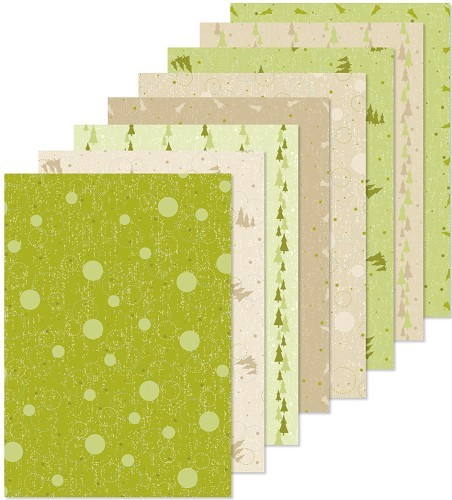Christmas design papier assortiment groen/beige