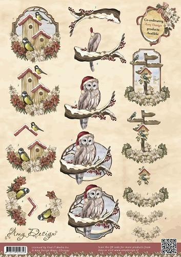 Amy Design - Vintage Christmas Collection - Kerstvogels