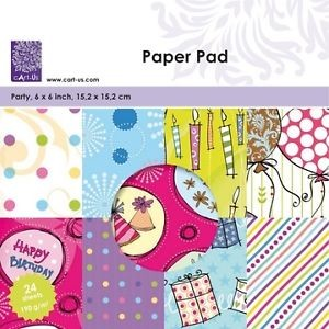 Paper Pad Party 6x6 inch 15,2x15,2 cm
