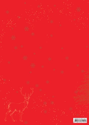 Background sheets A4 Christmas red Christmas tree-1