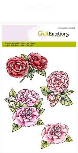 CraftEmotions clearstamps A6 - Rozen High Tea Rose