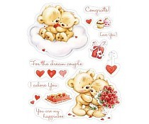 ScrapBerry`s Set Of Clear Stamps My Little Bear To Wonderful Couple