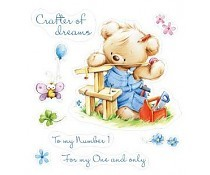 ScrapBerry`s Set Of Clear Stamps My Little Bear Craftsman