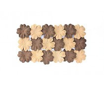 ScrapBerry`s Set Of Flowers From Mulberry Paper 2 Color 20 pcs 28 mm Brown Sand
