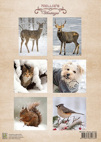Vintage Winter, animals