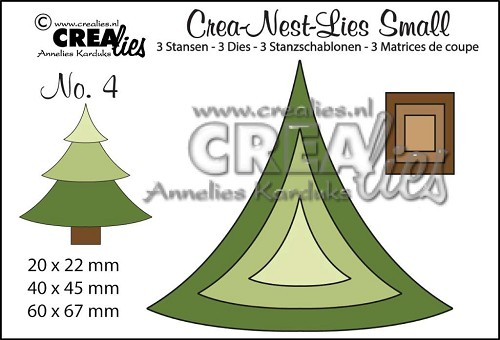 Crealies Crea-nest-dies small no. 4 kerstboom