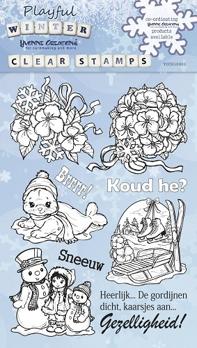 Clear Stamp - Yvonne Creations - Playfull Winter