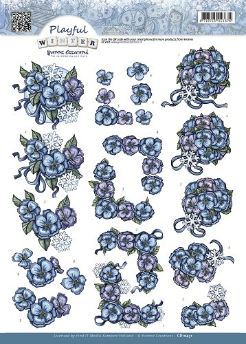 Yvonne Creations - Playful Winter - Snowflowers