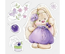 ScrapBerry`s Set Of Clear Stamps Bunny And Plums
