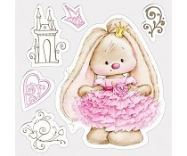ScrapBerry`s Set Of Clear Stamps Bunny Princess