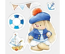 ScrapBerry`s Set Of Clear Stamps Bunny Sailor
