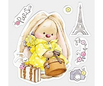 ScrapBerry`s Set Of Clear Stamps Bunny Paris