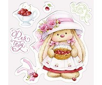 ScrapBerry`s Set Of Clear Stamps Cherry Bunny