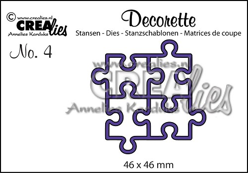 Crealies Decorette no. 4 stans puzzel