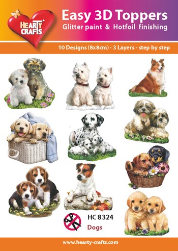 easy 3D toppers honden