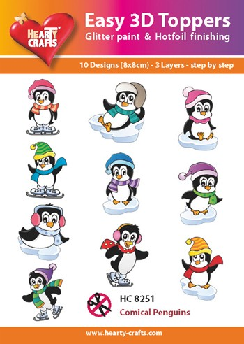 easy 3D toppers pinguins