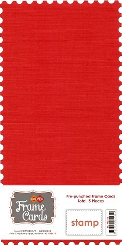 Frame Cards - Vierkant - Rood