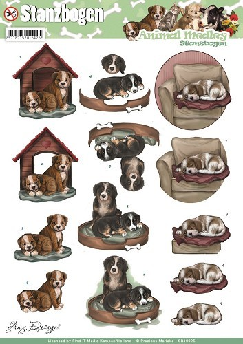 3D Pushout - Amy Design - Animal Medley - Dogs