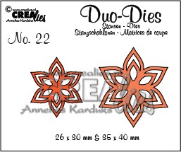 Crealies Duo Die no. 22 Flowers 13