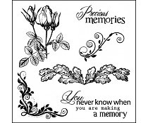 ScrapBerry`s Set Of Clear Stamps Elegy Precious Memories