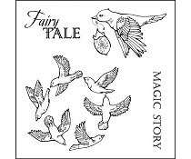 ScrapBerry`s Set Of Clear Stamps Fairy Tale Magic Story