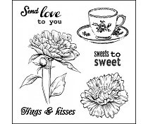 ScrapBerry`s Set Of Clear Stamps Afternoon Tea Sweets To Sweet