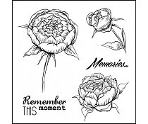 ScrapBerry`s Set Of Clear Stamps Afternoon Tea Memories
