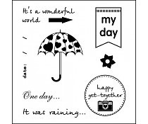 ScrapBerry`s Set Of Clear Stamps Every Day My Day