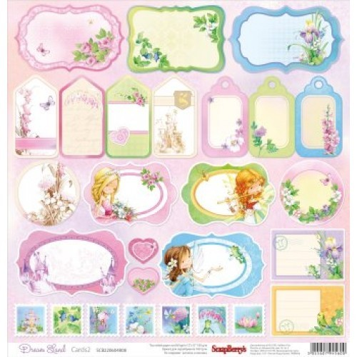 ScrapBerry`s One-Sided Paper Dream Land Cards 2