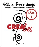 Crealies Clearstamp Bits&Pieces no. 01 Swirl