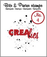 Crealies Clearstamp Bits&Pieces no. 04 Ink splashes