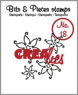Crealies Clearstamp Bits&Pieces no. 18 Flowers 2