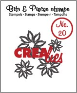 Crealies Clearstamp Bits&Pieces no. 20 Flowers 4