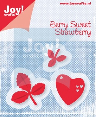 Cutting & Embossing stencil (3st) - berry sweet strawberry