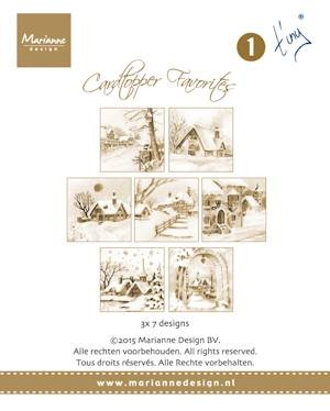 Card toppers sepia favourites Tiny
