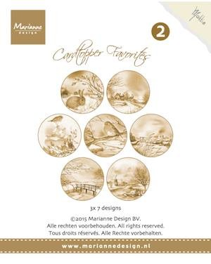 Card toppers sepia favourites Mattie