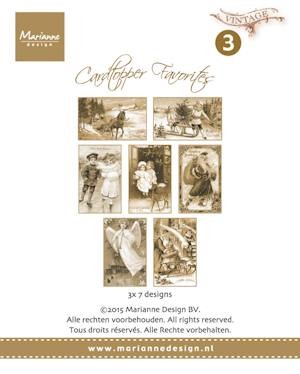 Card toppers sepia favourites Vintage